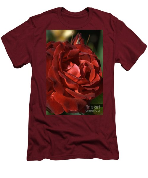 Men's T-Shirt (Slim Fit) featuring the photograph Rich Is Rose by Joy Watson