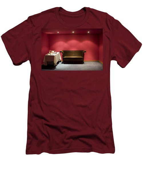 Men's T-Shirt (Slim Fit) featuring the photograph Room Service by Lynn Palmer