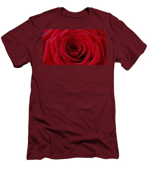 Men's T-Shirt (Slim Fit) featuring the photograph Rose Red by Shawn Marlow