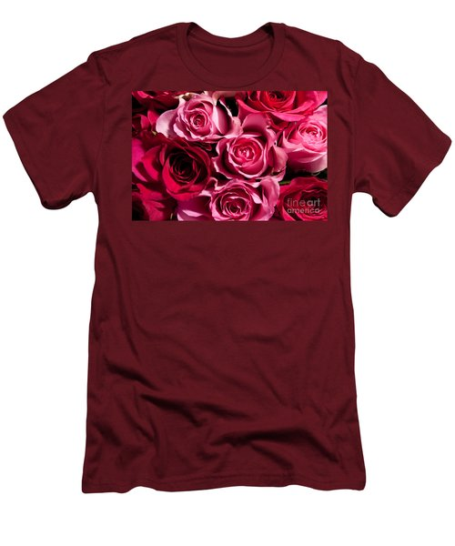 Men's T-Shirt (Slim Fit) featuring the photograph Roses by Matt Malloy