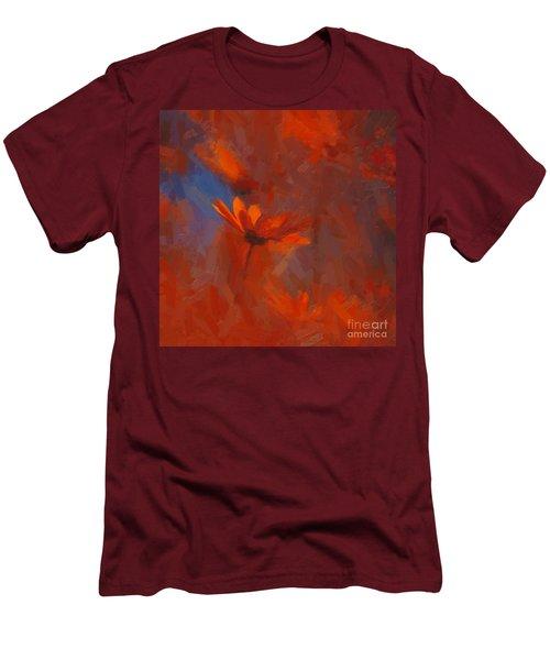 Scarlet Petals  Men's T-Shirt (Slim Fit) by Paul Davenport