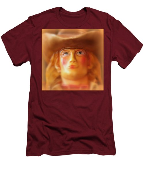 Men's T-Shirt (Slim Fit) featuring the photograph Scary Cowgirl by Lynn Sprowl