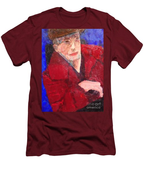 Men's T-Shirt (Slim Fit) featuring the painting Self-portrait by Donald J Ryker III