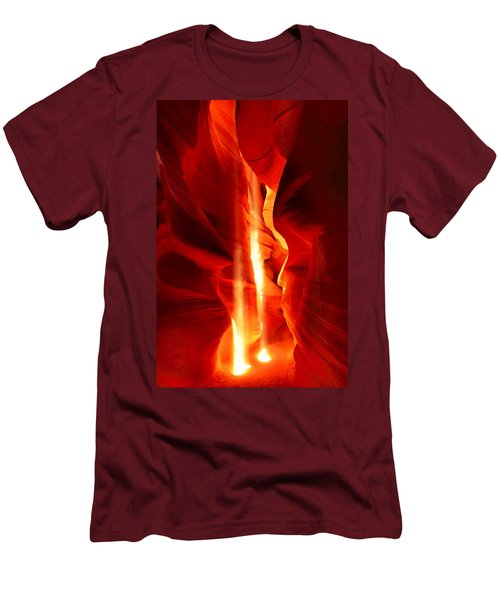 Shining Light Men's T-Shirt (Slim Fit) by Midori Chan
