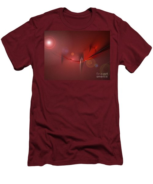 Simply Red Men's T-Shirt (Slim Fit) by Jacqueline Lloyd