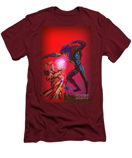 Men's T-Shirt (Slim Fit) featuring the drawing Sleepwalker 1c by Justin Moore