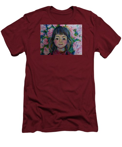 Men's T-Shirt (Slim Fit) featuring the drawing Spring Girls. Part One by Anna  Duyunova