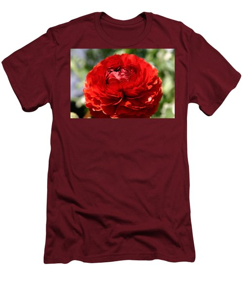Spring Scarlet Double Begonia Men's T-Shirt (Athletic Fit)