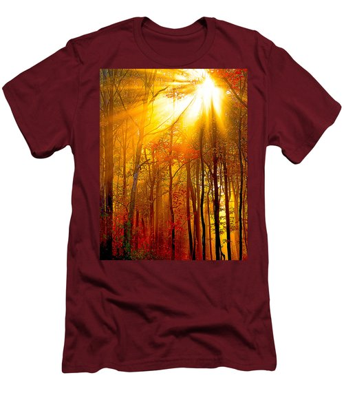 Sunburst In The Forest Men's T-Shirt (Athletic Fit)