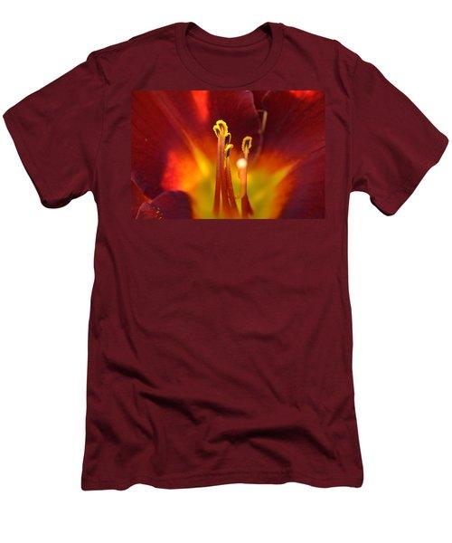 Sunlit Lily Men's T-Shirt (Slim Fit) by David Porteus
