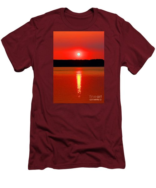Sunrise Over Whidbey Island Men's T-Shirt (Athletic Fit)