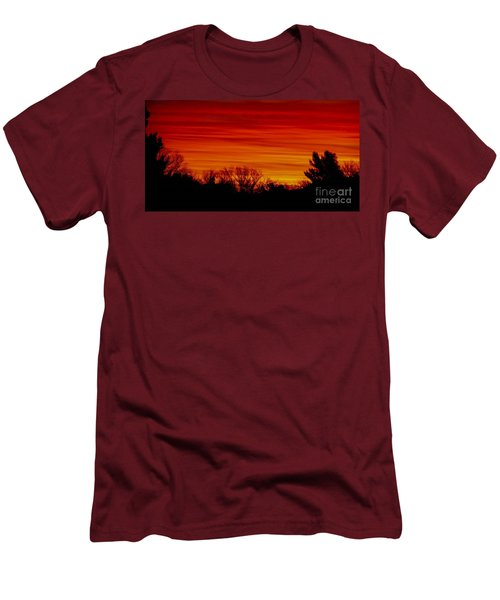 Men's T-Shirt (Slim Fit) featuring the photograph Sunrise Y-town by Angela J Wright