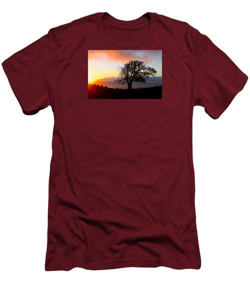Sunset Tree In Maui Men's T-Shirt (Slim Fit) by Venetia Featherstone-Witty