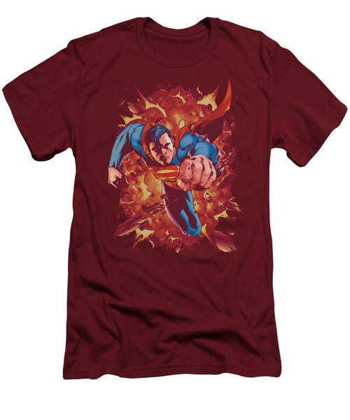 Superman - Through Flame Men's T-Shirt (Athletic Fit)