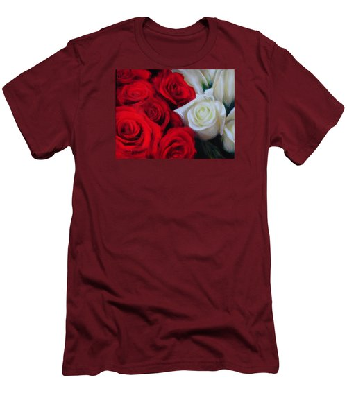 Da143 Symphony In Red And White By Daniel Adams Men's T-Shirt (Athletic Fit)