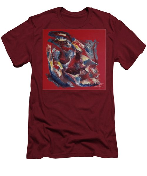 Men's T-Shirt (Slim Fit) featuring the painting Syncopation by Mini Arora