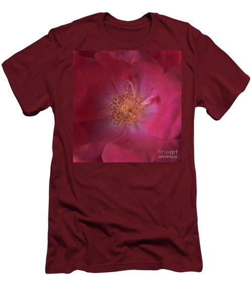 Men's T-Shirt (Slim Fit) featuring the photograph Tea Rose by Debra Fedchin