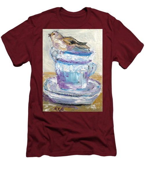 Tea Time  Men's T-Shirt (Slim Fit) by Reina Resto