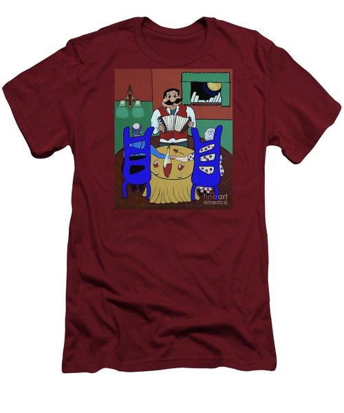 Men's T-Shirt (Slim Fit) featuring the painting The Anniversary by Barbara McMahon