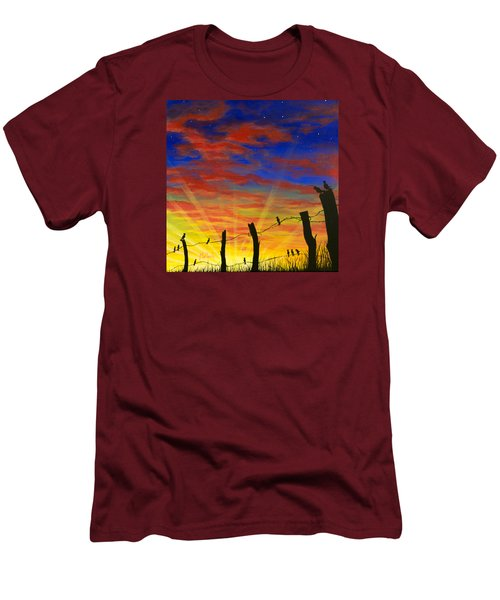 The Birds - Red Sky At Night Men's T-Shirt (Slim Fit) by Jack Malloch