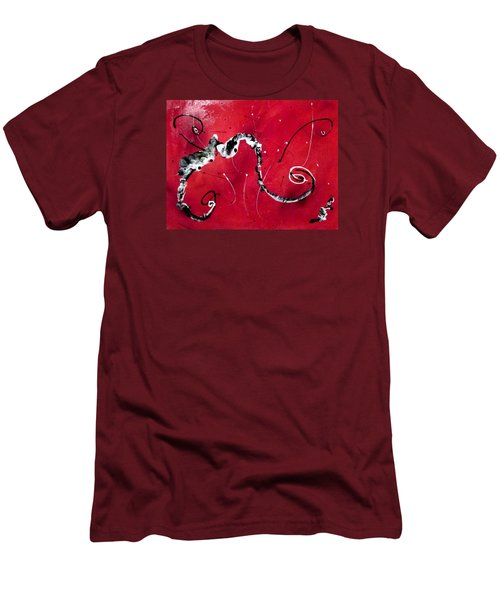 Men's T-Shirt (Slim Fit) featuring the painting The Dance by Mary Kay Holladay