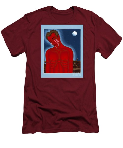 The Passion Of Matthew Shepard 096 Men's T-Shirt (Slim Fit) by William Hart McNichols