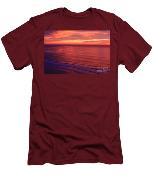 Men's T-Shirt (Slim Fit) featuring the photograph Torrey Pines Twilight by John F Tsumas