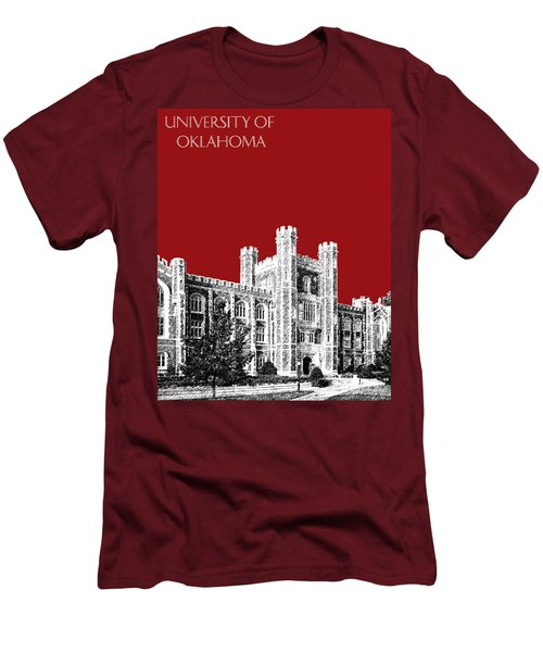 University Of Oklahoma - Dark Red Men's T-Shirt (Athletic Fit)