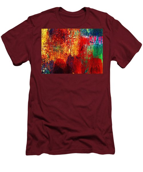 Untamed Colors  Men's T-Shirt (Athletic Fit)