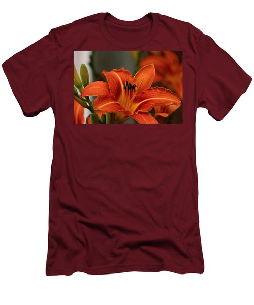 Up Close And Personal Two Men's T-Shirt (Slim Fit) by Jeanette C Landstrom