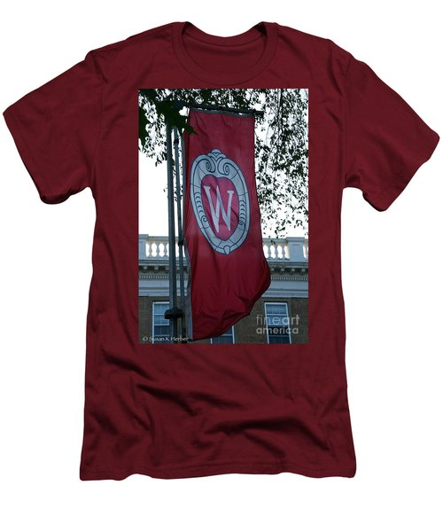 Uw Flag Men's T-Shirt (Athletic Fit)