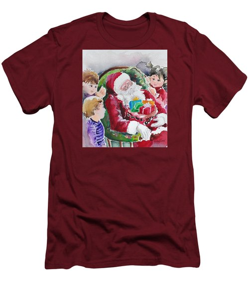 Waiting Up For Santa2 Men's T-Shirt (Athletic Fit)