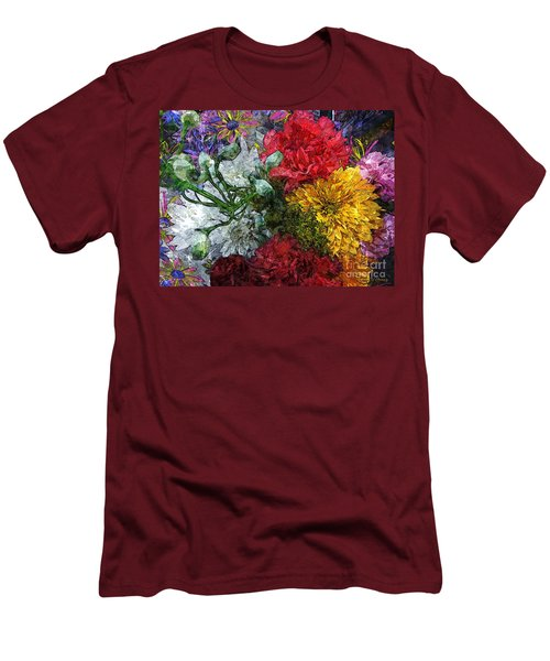 Warning Flowers At Large Men's T-Shirt (Athletic Fit)