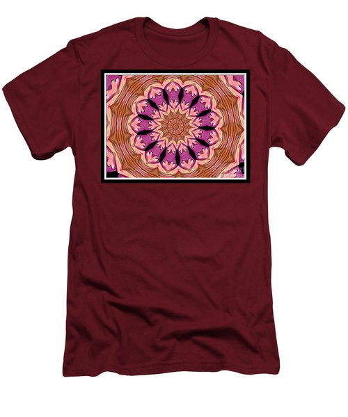 Men's T-Shirt (Slim Fit) featuring the photograph Waterlily Flower Kaleidoscope 2 by Rose Santuci-Sofranko