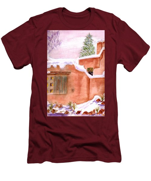 Winter Adobe Men's T-Shirt (Slim Fit) by Paula Ayers