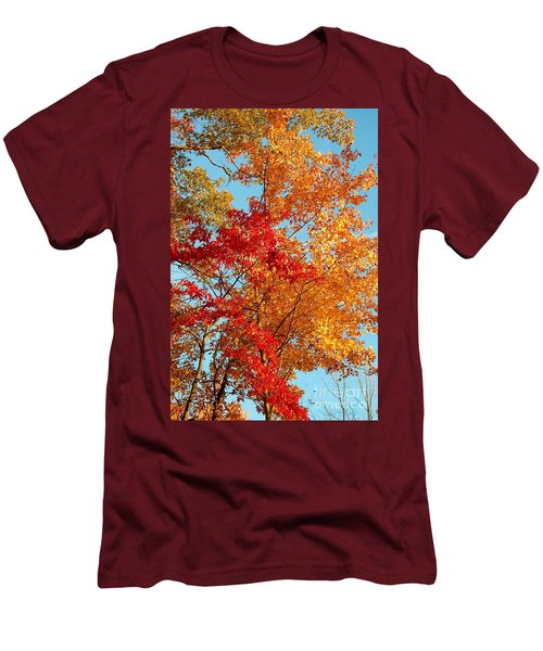 Men's T-Shirt (Slim Fit) featuring the photograph Yellow And Red by Patrick Shupert