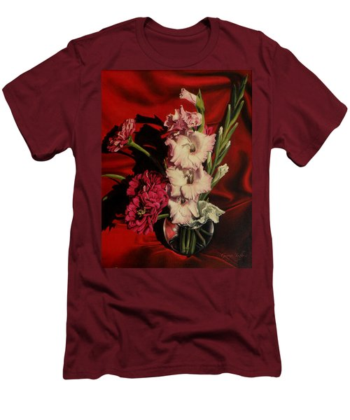 Zinnias And Gladiolas Men's T-Shirt (Athletic Fit)