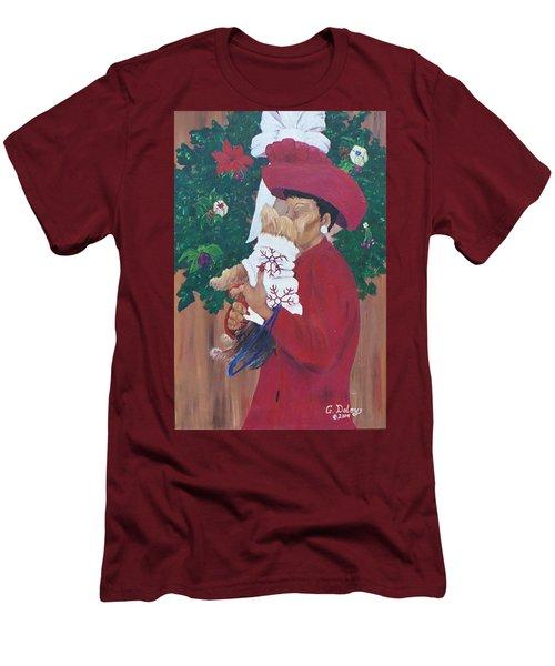 Christmas Lioness Men's T-Shirt (Athletic Fit)