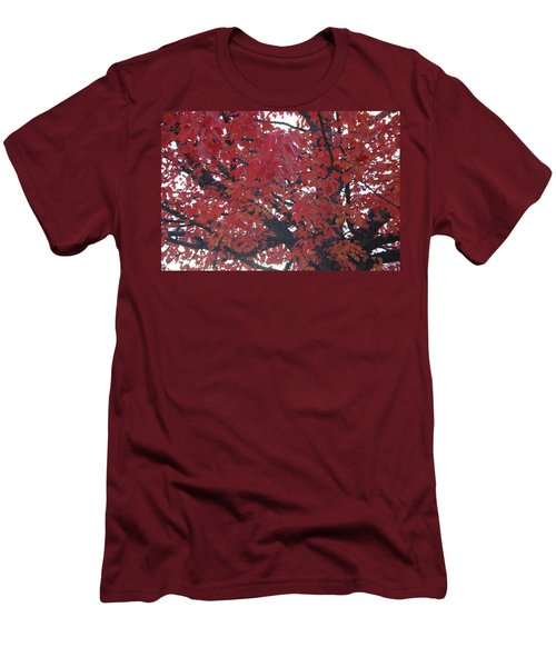 Crimson Leaves Men's T-Shirt (Athletic Fit)