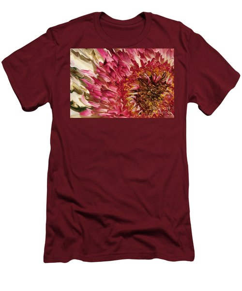 Flower Art Men's T-Shirt (Athletic Fit)