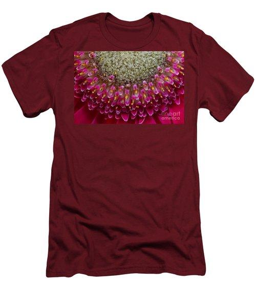 Gerbera Macro Men's T-Shirt (Slim Fit) by Jim and Emily Bush