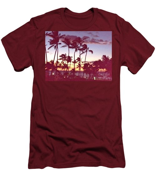 Mahalo For This Day Men's T-Shirt (Slim Fit) by Beth Saffer