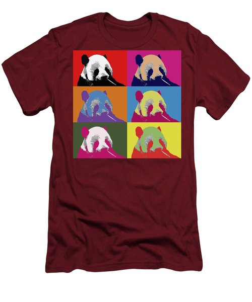 Panda Pop Art 2 Men's T-Shirt (Athletic Fit)