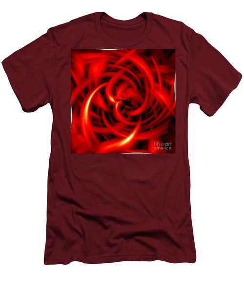 Men's T-Shirt (Slim Fit) featuring the digital art Red Hot by Davandra Cribbie