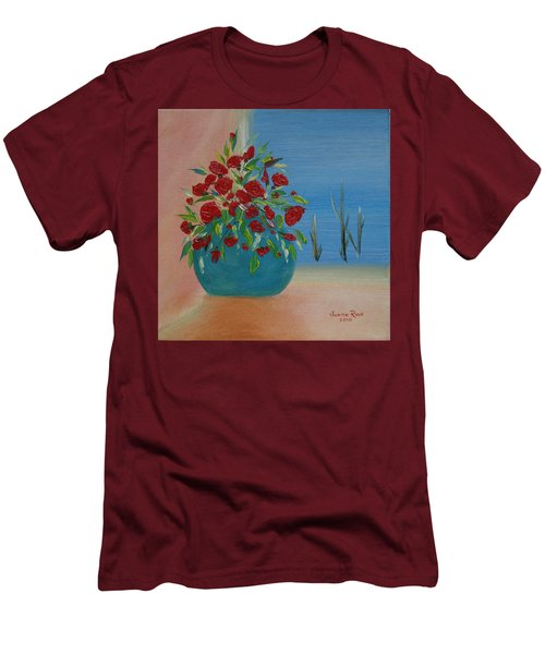 Men's T-Shirt (Slim Fit) featuring the painting Southwestern 1 by Judith Rhue