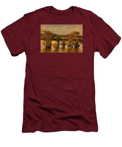 Atchafalaya Basin Men's T-Shirt (Slim Fit) by Ronald Olivier