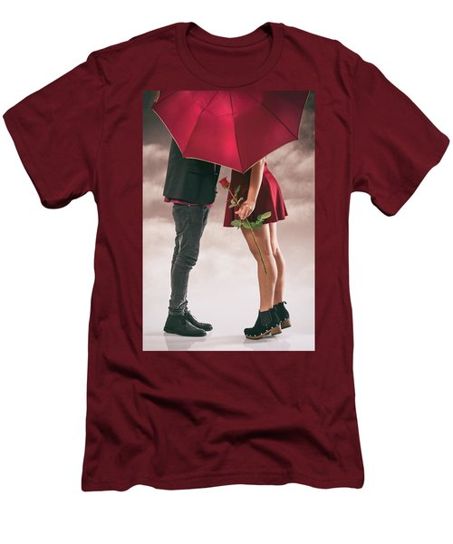 Men's T-Shirt (Slim Fit) featuring the photograph Couple Of Sweethearts by Carlos Caetano