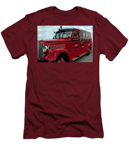 Detroit Fire Truck Men's T-Shirt (Athletic Fit)