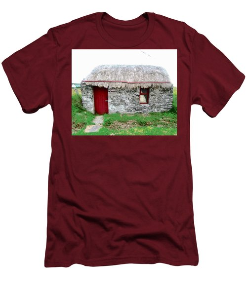 Irish Cottage Men's T-Shirt (Slim Fit) by Stephanie Moore