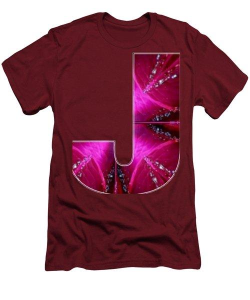 J Jj Jjj  Alpha Art On Shirts Alphabets Initials   Shirts Jersey T-shirts V-neck Sports Tank Tops  B Men's T-Shirt (Slim Fit) by Navin Joshi